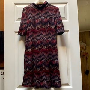 Chevron Mock Turtle Neck Dress
